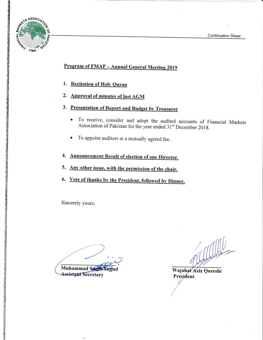 Program of AGM p2